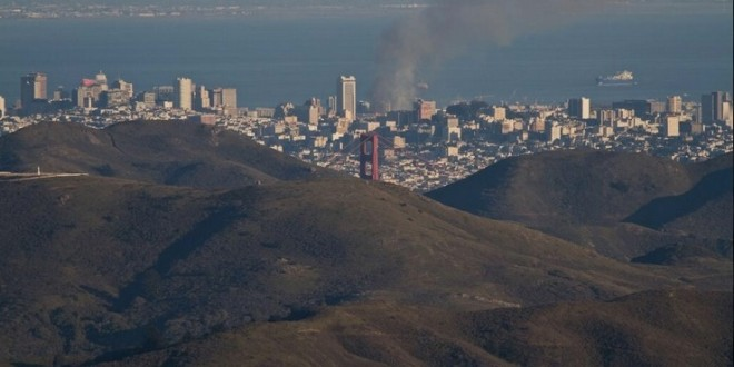 Tuesday's SF Mission Fire Visible from Marin